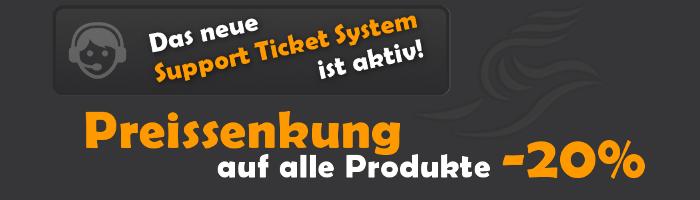 Ticketsystem und Preissenkung
