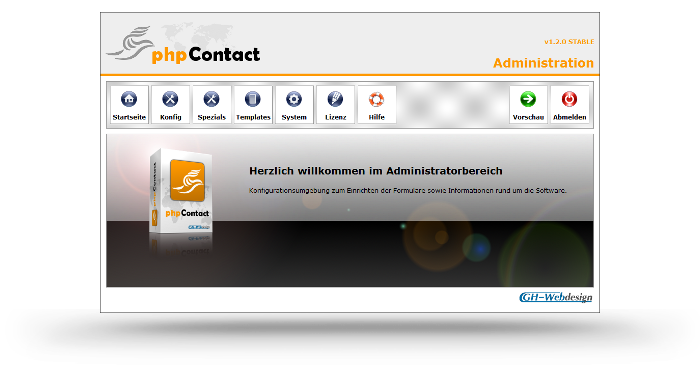 phpContact Administratorbereich